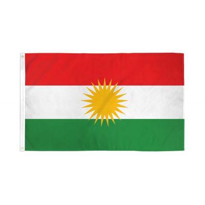 2ft. x 3ft. Kurdistan Flag with Canvas Header & Brass Grommets