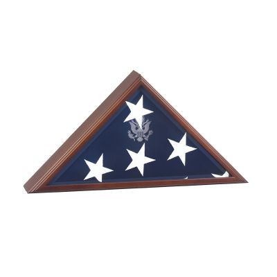 Vice Presidential Flag Display with Great Seal Engraved on Glass
