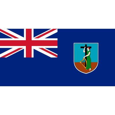 Size 8 Montserrat Flag with Canvas Header & Brass Grommets