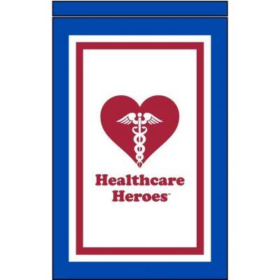 12 in. x 18 in. The Healthcare Heroes Garden Flag Banner