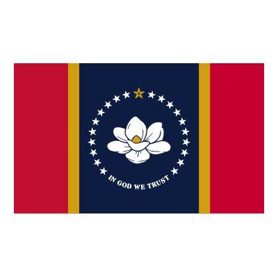 5ft. x 8ft. New Mississippi Flag