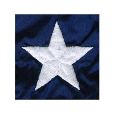 Embroidered Stars on Nylon Flag