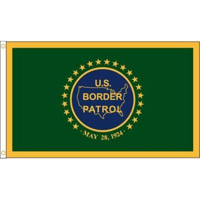 5ft. x 8ft. US Border Patrol Flag Heading & Grommets