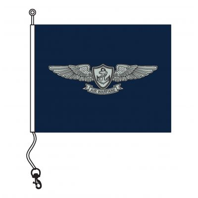 19 in. x 24 in. Enlisted Aviation Warfare Pennant w/ Line, Snap & Ring