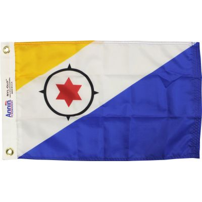 12 in. x 18 in. Bonaire Flag with Canvas Heading & Grommets