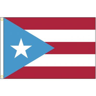 4ft. x 6ft. Puerto Rico Flag Sky Blue Heading & Grommets