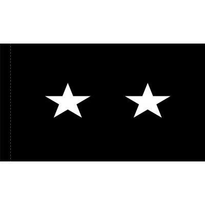 4ft. x 6ft. Space Force 2 Star General Flag w/ Side Pole Sleeve