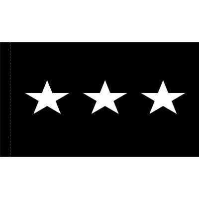 4ft. x 6ft. Space Force 3 Star General Flag w/ Side Pole Sleeve