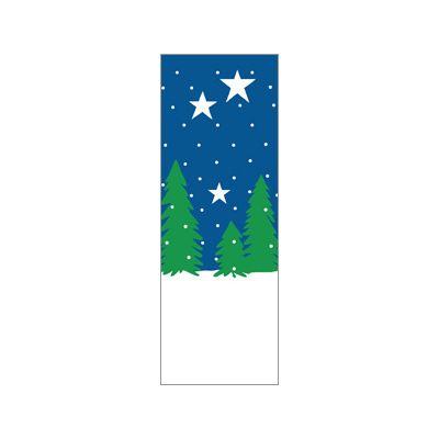 30 x 60 in. Seasonal Banner Winter Trees & Stars