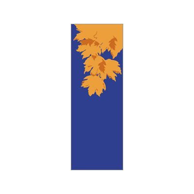 30 x 96 in. Holiday Banner Fall Leaves