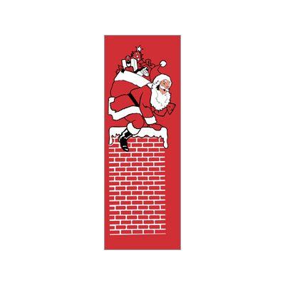 30 x 96 in. Holiday Banner Chimney Santa