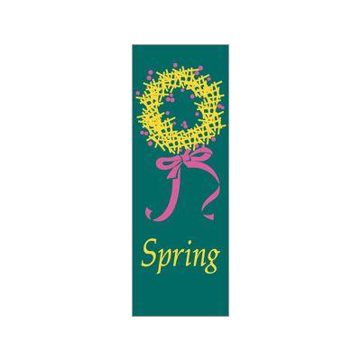 30 x 60 in. Seasonal Banner Spring Wreath