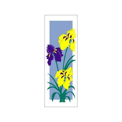 30 x 60 in. Seasonal Banner Iris