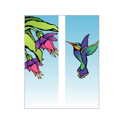 30 x 60 in. Seasonal Banner Hummingbird-Double Sided Design