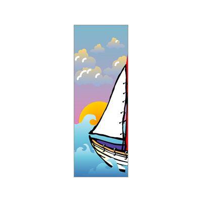 30 x 60 in. Seasonal Banner Sailboat