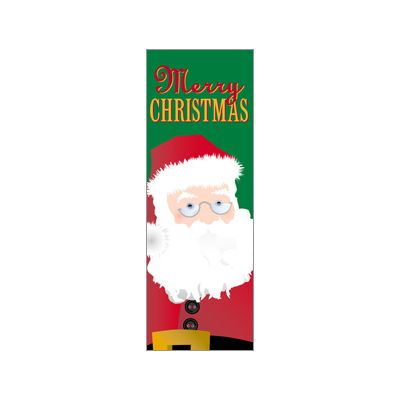 30 x 84 in. Holiday Banner Santa Claus