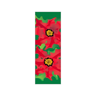 30 x 60 in. Holiday Banner Poinsettias