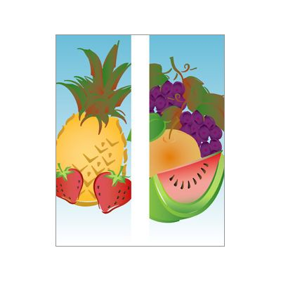 30 x 84 in. Seasonal Banner Summer Fruit-Double Sided Design