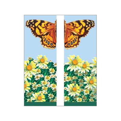 30 x 96 in. Seasonal Banner Butterfly & Daisies-Double Sided Design