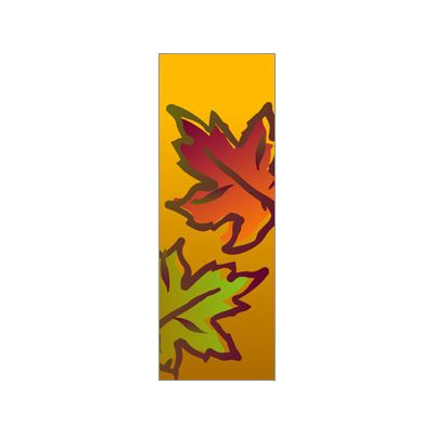 30 x 60 in. Seasonal Banner Yellow Fall Leaves