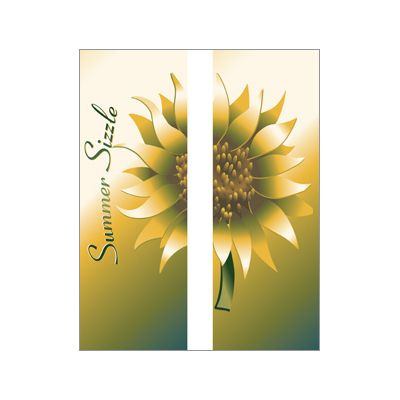 30 x 60 in. Seasonal Banner Summer Sizzle Sunflower-Double Sided