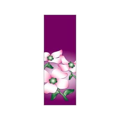 30 x 84 in. Seasonal Banner Dogwood Flowers Purple Fabric