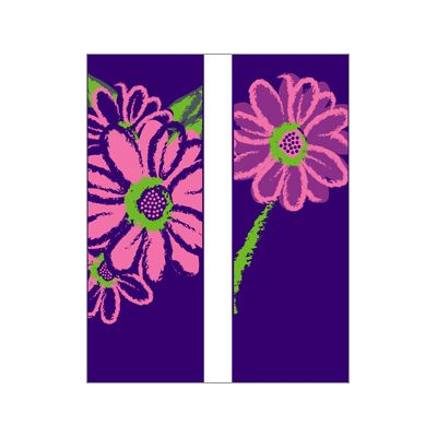 30 x 84 in. Seasonal Banner Pink Daisy-Double Sided Design Canvas