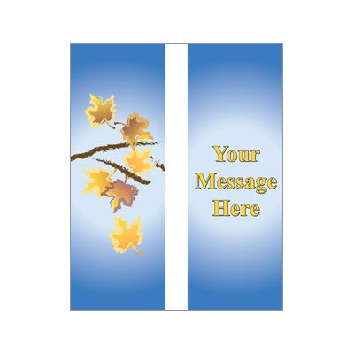 30 x 84 in. Seasonal Banner Autumn Branches-Double Sided Design