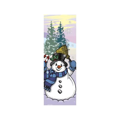 30 x 96 in. Holiday Banner Snowman with Broom