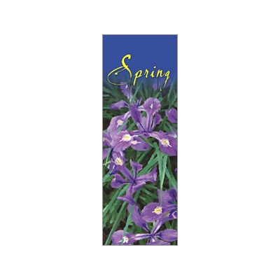 30 x 84 in. Seasonal Banner Spring Beauty Siberian Iris