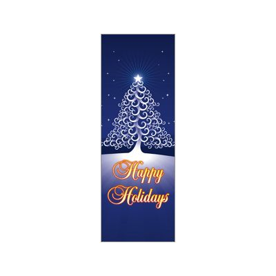 30 x 84 in. Holiday Banner Happy Holidays Tree