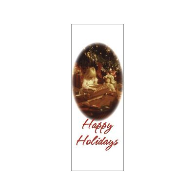 30 x 84 in. Holiday Banner Happy Holidays Christmas Morning