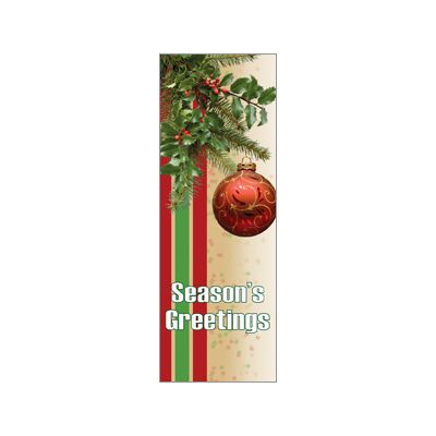 30 x 60 in. Holiday Banner Seasonal Spray with Ornament