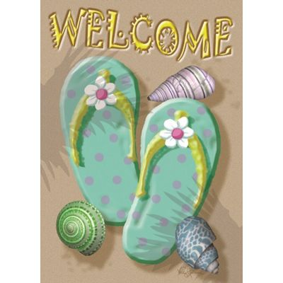 Welcome Flip Flop House Flag