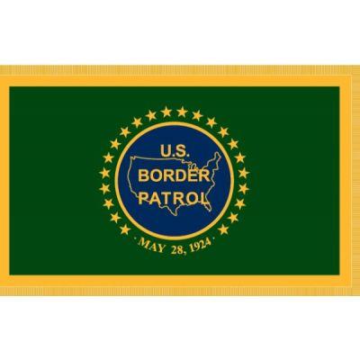 3 x 5 ft. U.S. Border Patrol Flag w/ Gold Fringe