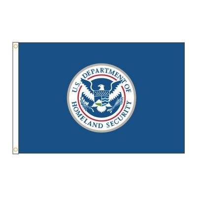 5 ft. x 8 ft. DHS Flag - Nylon Dyed Outdoor Use