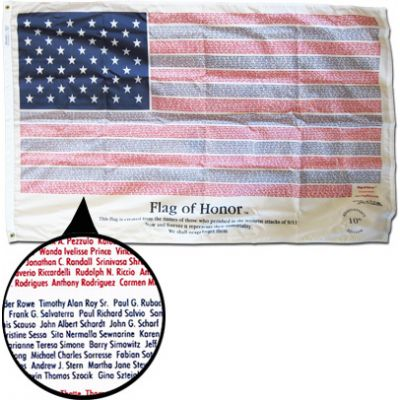 3 x 5 ft. Flag of Honor Memorial Editions
