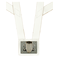 White Honor Guard Flagpole Harness w/Metal Cup